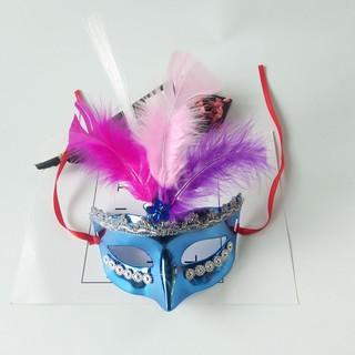 mặt nạ hóa trang- mặt nạ lông vũ đậu nành