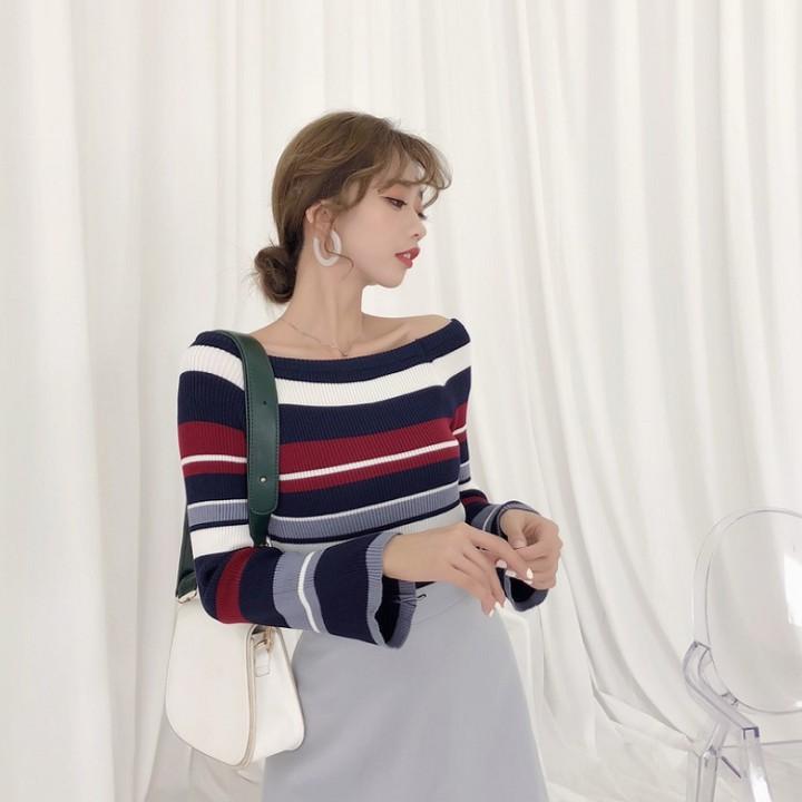 Áo len trễ vai thời trang Hàn Quốc