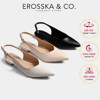 Giày cao gót Erosska thời trang mũi nhọn phối dây hở gót cao 2cm _ EL001