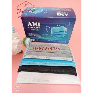 Hộp khẩu trang y tế 4 lớp AMI ( 50c hộp) đủ màu - Ami official thumbnail