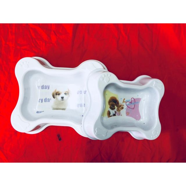 Bát fip hình xương cho chó mèo