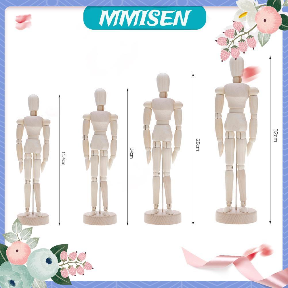 Mmisen Handmade Wooden Movable Limbs Human Figure Model Artist Sketch Draw Models