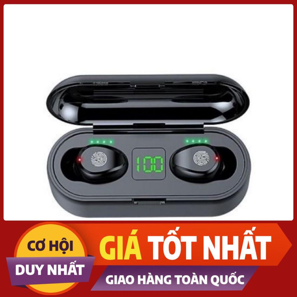 Tai Nghe Bluetooth AMOI F9 | Nút Cảm Ứng Đa Điểm | Bluetooth 5.0 | Pin 280 giờ| Sạc Dự Phòng 2000mah