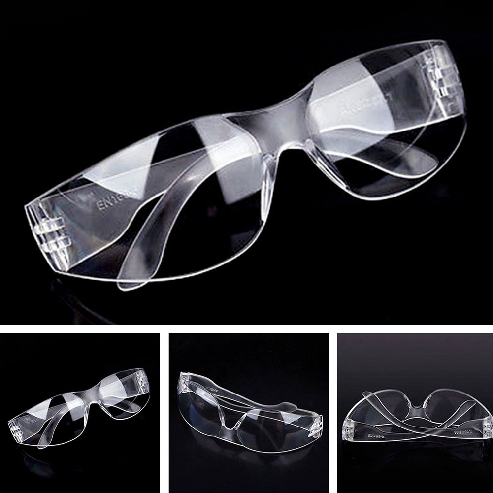 Protective Eyewear Clear Lens Goggles Safety Glasses Spectacles Lab Eye Protection