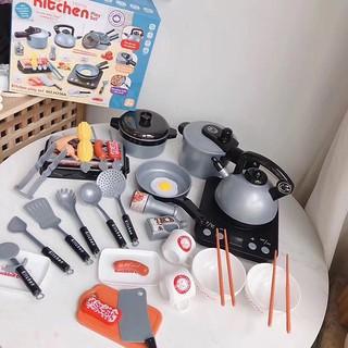 Bộ đồ chơi nấu ăn 36 món kèm thức ăn Mykid