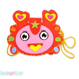 ❀Ready Stock❀Cartoon Children DIY Bags EVA Handmade Bag Kindergarten Craft Material Pack