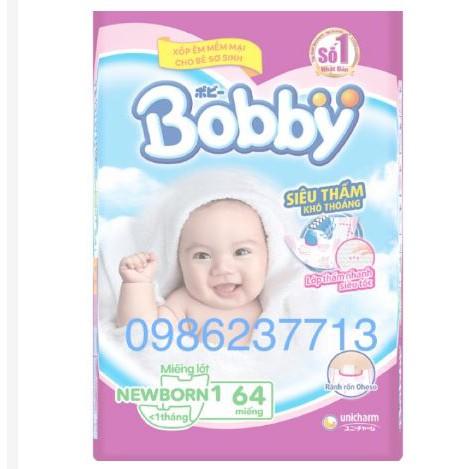 miếng lót bobby newborn 1- 64 miếng cho trẻ dưới 1 tháng