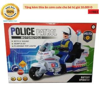 Đồ chơi xe máy cảnh sát cơ động