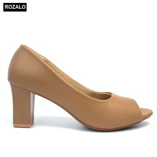 Giày nữ cao gót 7P hở mũi Rozalo R6007