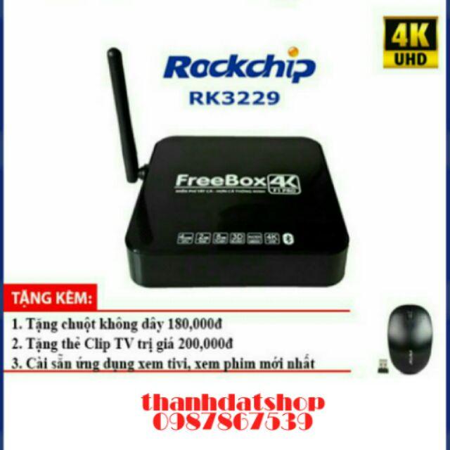 Android Tivi FreeBox 4k , Bluetooth, Android 6.0,Ram 2G, tặng chuột không dây
