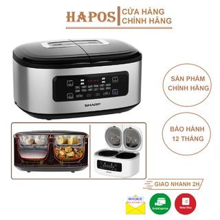Nồi cơm đa năng Sharp 1.8 Lít, 2 ngăn nấu 4 món/lần, điều khiển cảm ứng (KN-TC50VN-SL)