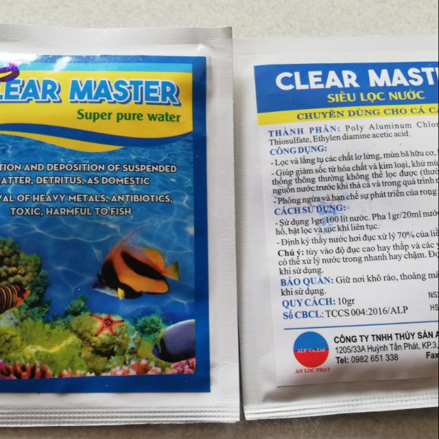 Clear master