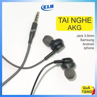 Tai nghe AKG chân tròn 3.5 mm tương thích iphone, samsung, oppo Jack tròn, tay nghe kiểu in ear chống ồn cao cấp