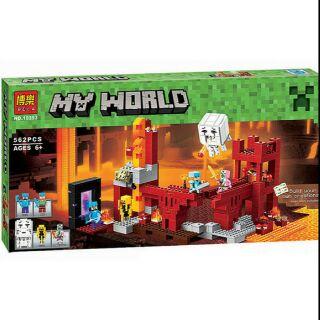 LEGO Minecraft 10393 – Trận Chiến Tại Pháo Đài Địa Ngục