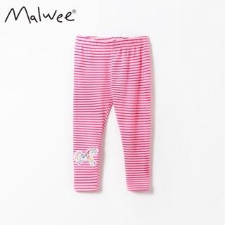 Quần legging Malwee thun cotton kẻ hồng ngựa