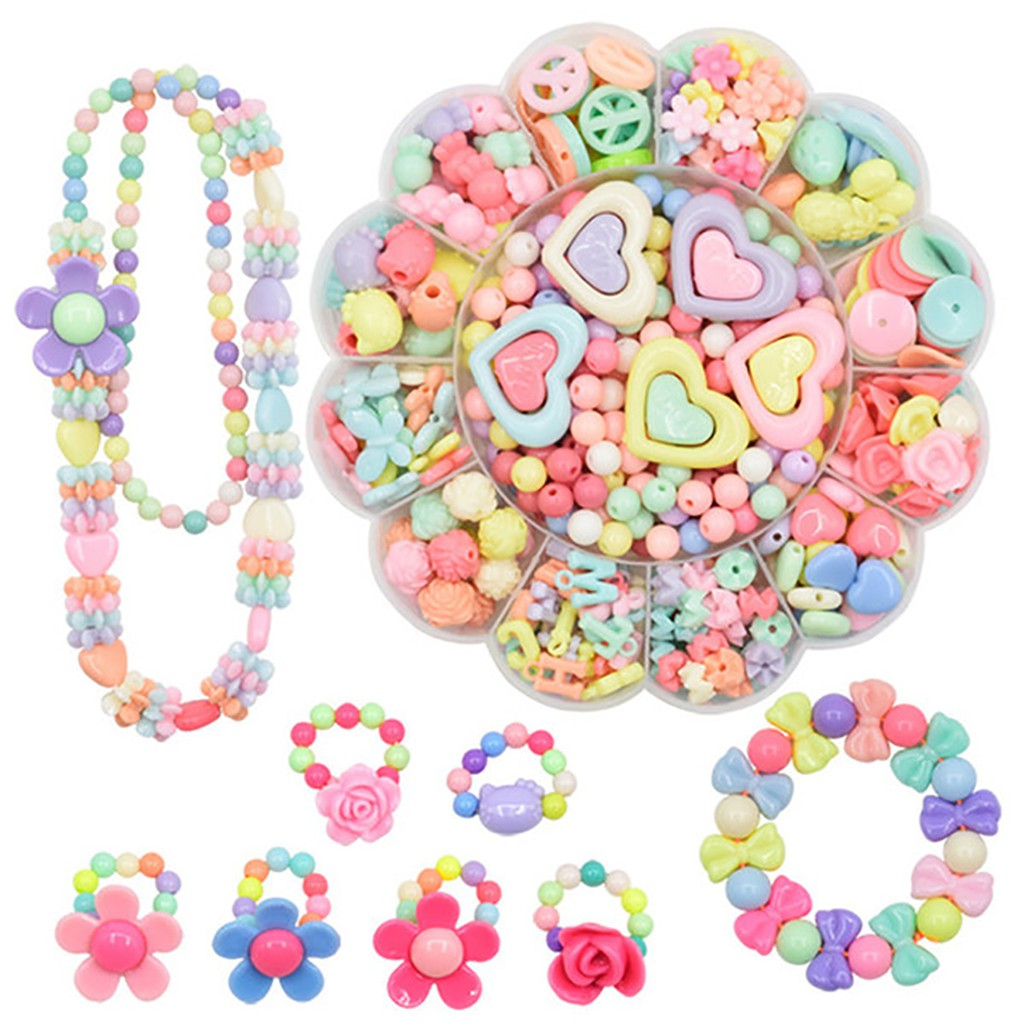 471Pcs DIY Snap Beads Acrylic Educational Toy Jewelry Necklace for Kids Girls