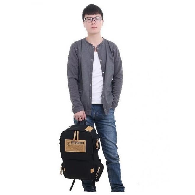 [Nhập mã MAN1015 giảm 15%] Balo Canvas Tặng Kèm Thắt Lưng Nam Thời Trang CBSH01