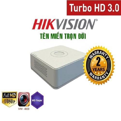 [Giá Sập Sàn]Đầu Ghi Hình HIKVISION HD-TVI 4 Kênh 2MP/3MP DS-7104HQHI-K1 bảo hành 2 năm