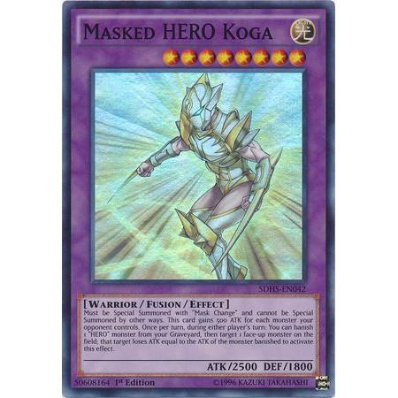 [Thẻ yugioh TCG] Masked Hero Koga – SDHS-EN042 – Super Rare 1st Edition