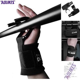 Bán sỉ - AOLIKES AL 7642 - Đai cuốn cổ tay có móc thép nâng tạ, tập gym đu xà tại nhà hoặc tâp xô vai - chuyên gym. thumbnail
