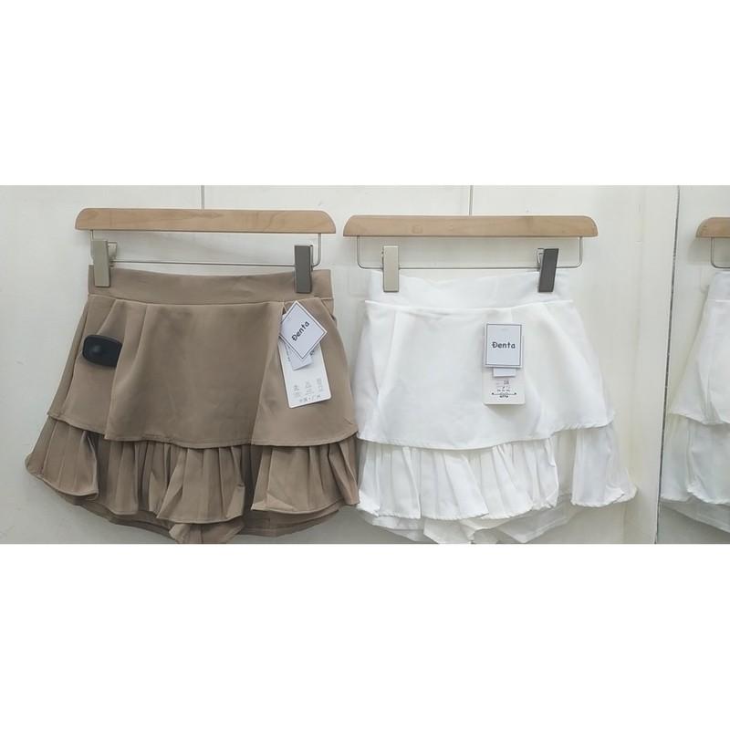 Chân váy ngắn xếp ly 2 tầng Đenta Store 11DVA9