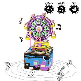 Hộp nhạc gỗ Ferris Wheel DIY Robotime