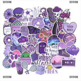 SIYUYAN 50Pcs Cartoon Purple Stickers DIY Suitcase Laptop Guitar Bicycle Car Decals [319FA]