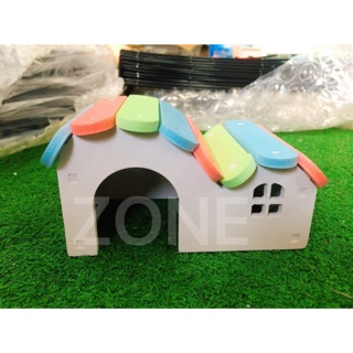 Nhà ngủ gỗ màu hamster thumbnail