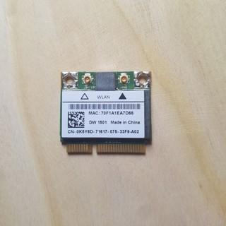 Card Mini PCI-E Wifi không dây cho Dell dw1501 0k5y6d Broadcom( như hình)