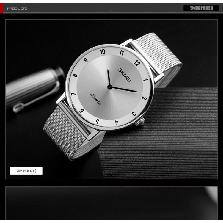 Đồng hồ thời trang nam SKMEI 1264 (dây khớp thép không rỉ, chạy kim, chống nước tiêu chuẩn)