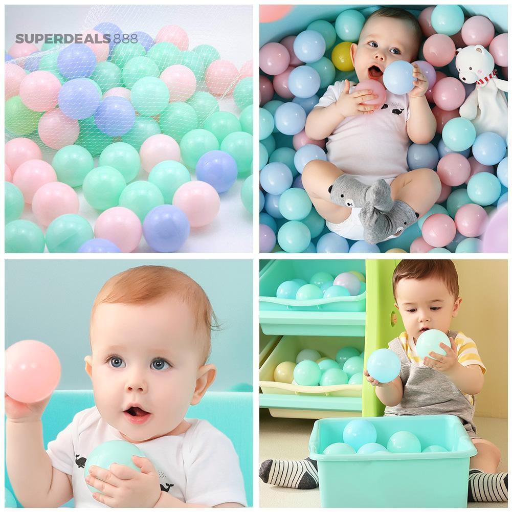 ☎SuperDeals888☎ 25/50/100pcs PVC Macaroon Sea Balls Colorful Tent Swimming Pool Balls Toys