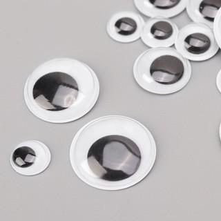 Set 100 Mắt Nhựa 10-20mm Dùng Để Làm Đồ Thủ Công