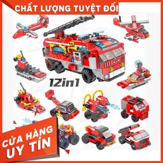 [ Hàng Có Sẵn ]Lego Panlos 633016 Lắp Ráp Xe Cứu Hỏa 12 in 1 – City Fire Truck ( 561 Mảnh )…