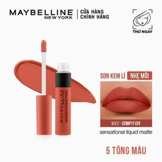 Son Kem Lì Nhẹ Môi Phiên Bản Tông Đất Maybelline New York Sensational Liquid Matte The Nudes Lipstick 7ml thumbnail
