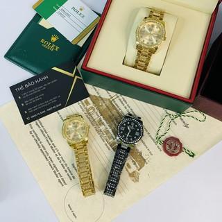 Đồng hồ nữ Rolex mặt tròn đính đá sang trọng dây kim loại cao cấp DHN609 Shop404