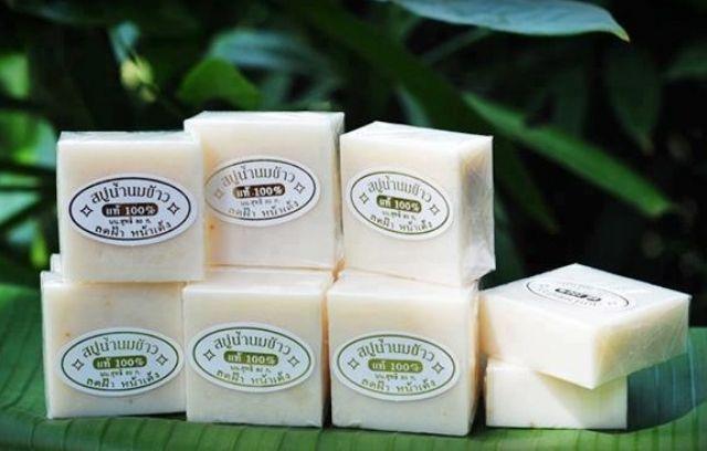 (65g) Xà phòng kích trắng cám gạo Thái Lan Jam Rice Milk Soap