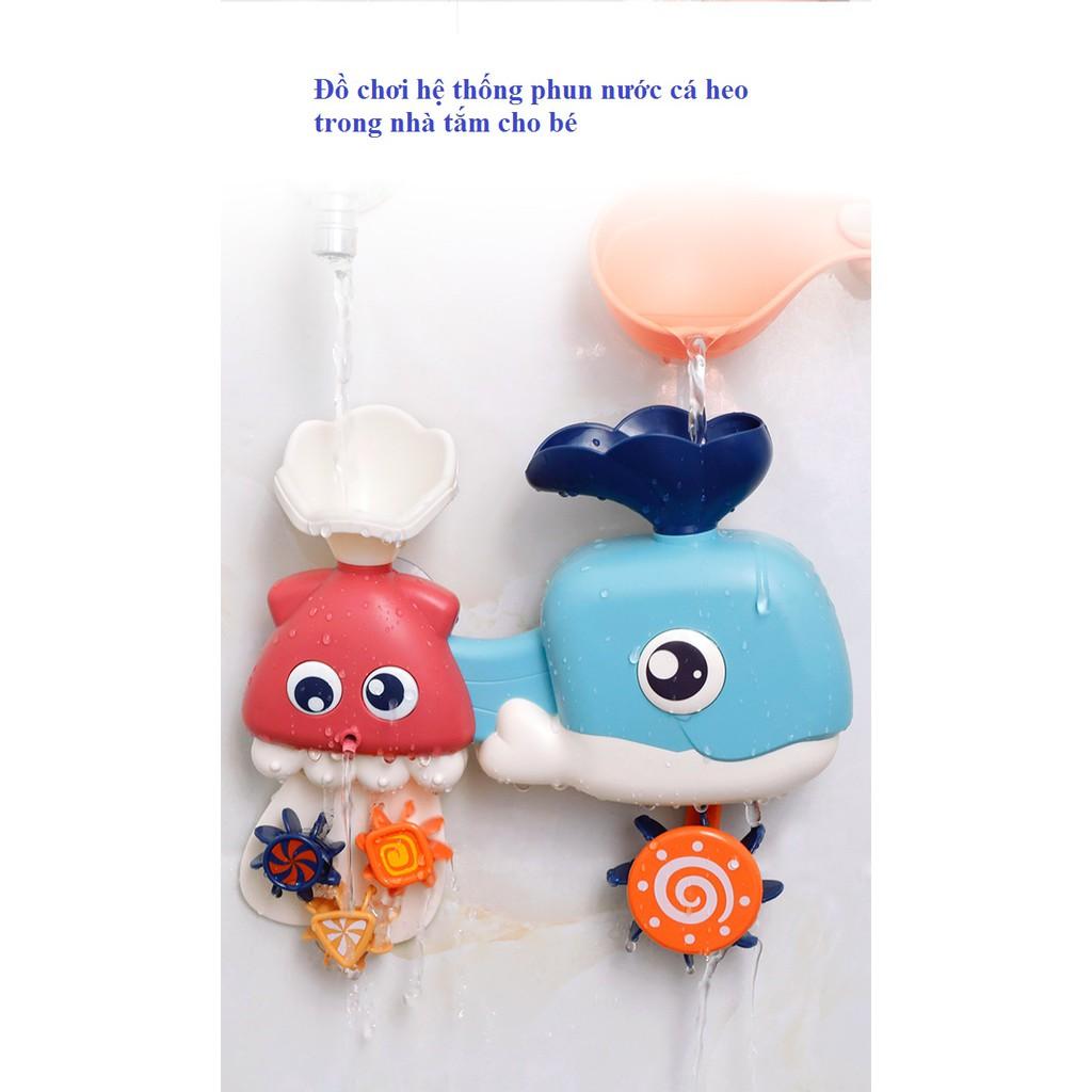 Đồ chơi hệ thống phun nước cá heo trong nhà tắm cho bé