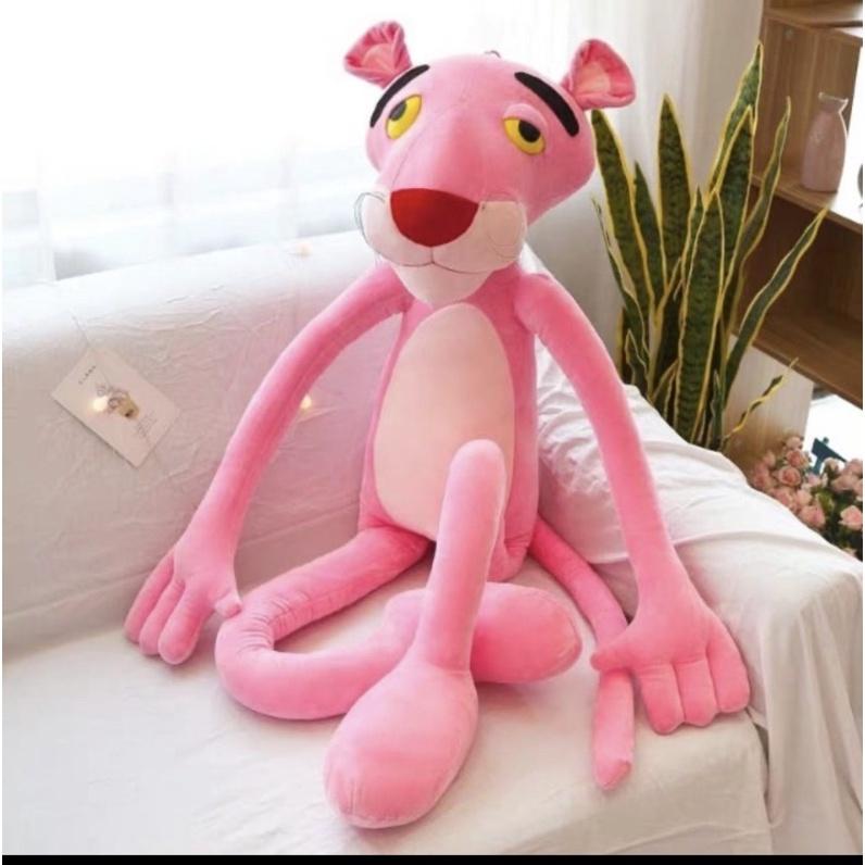 gấu bông báo hồng pink