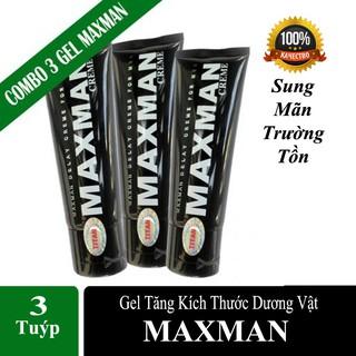 [Hàng Mỹ] Combo 3 Gel MAXMAN – Gel Bôi Tăng Kích Thước Cậu Nhỏ,Chống xuất tinh sớm