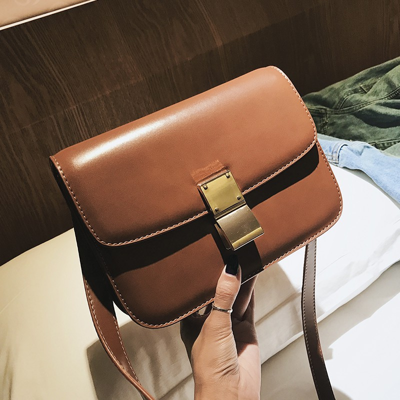 Classic color smooth female bag