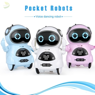 [sdp] Pocket Robot Mini Robot Toys Gift Talking Interactive Dialogue Voice Recognition Record Singing Dancing Smart Robot
