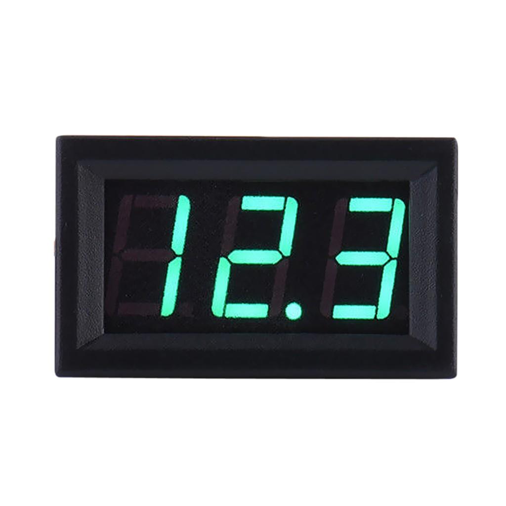 2 Wire Digital Display Volt Voltage Meter Voltmeter Car Motor 0.56'' Green
