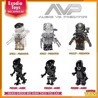 Bộ 6 minifigure Quái Vật Không Gian Alien vs Quái Thú Vô Hình Predator   Alien Versus Predator