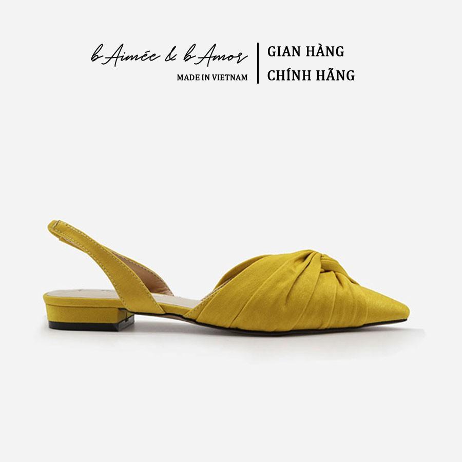 Sandal Bít Mũi Nữ bAimée & bAmor Quai Hậu Gót Vuông Bệt 1.5cm Mũi Nhọn Đế Bằng Thời Trang Hàn Quốc Đẹp Cao Cấp - MS1516