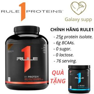 (Tặng BCAA) Whey protein tăng cơ Rule1 R1 isolate 76 lần dùng