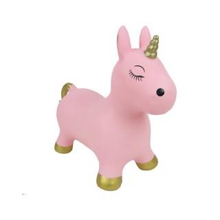 Thú nhún bơm hơi hình kỳ lân màu hồng nhạt Toys House - 0619-TH-005-PA382
