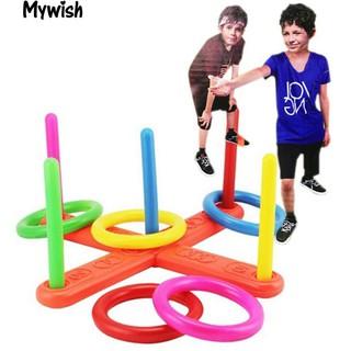 👶🏼Hoop Ring Toss Plastic Quoits Garden Game Pool Toy Outdoor Family Fun Set
