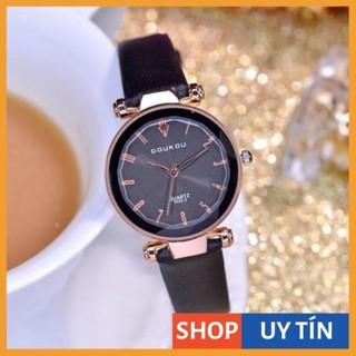 [Hàng Cao Cấp] - Đồng hồ nữ Doukou chính hãng dây da mặt vát 3d cực xinh thumbnail