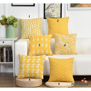 Gối tựa lưng,gối sofa trang trí sofa SET VÀNG (vỏ gối chưa kèm ruột) thumbnail
