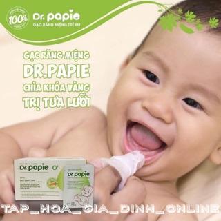 [Hộp 30 gói] Gạc rơ lưỡi vệ sinh răng miệng DR.PAPIE cho bé thumbnail